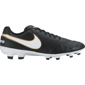 Бутсы Nike Football Men Tiempo Genio Leather ll (FG) black/wh-metallic gold (819213-010) p7-12,5 16